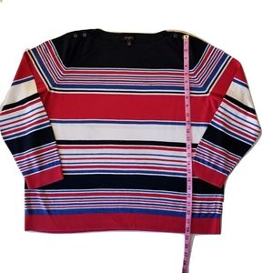 Talbots women's striped longsleeve shirt